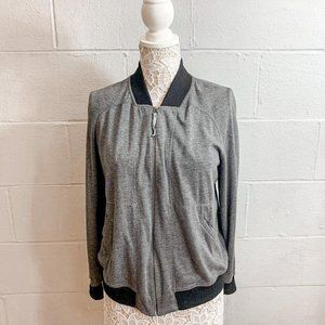 Max Studio Grey Zip Up Sweatshirt Size XL
